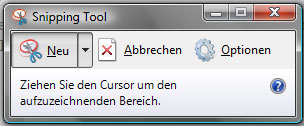 Screenshots mit Windows Vista – Snipping Tool