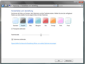 Umschalten von Windows AERO in Windows Vista-Basis