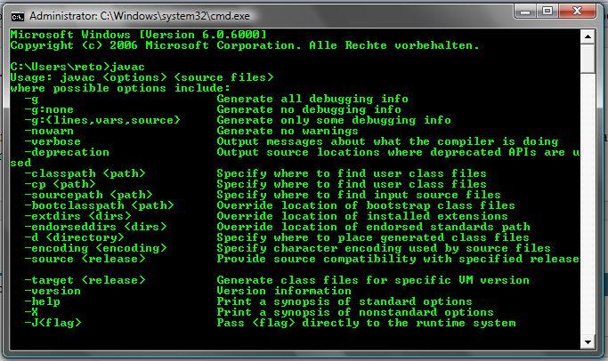 Installation von Java JDK auf Windows XP oder Windows Vista